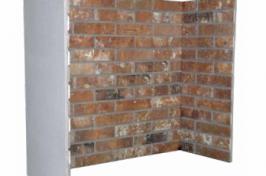 fake brick fireplace surround