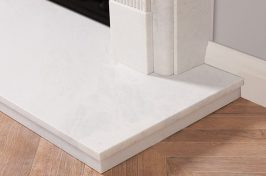 fireplace hearths white marble