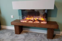 Gazco eReflex 70W Electric Fire with Barnstaple Fireplace