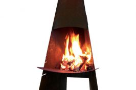 Real life outdoor fireplace