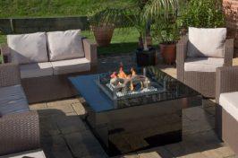 Black fire pit table